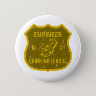 Engineer Drinking League 6 Cm Round Badge