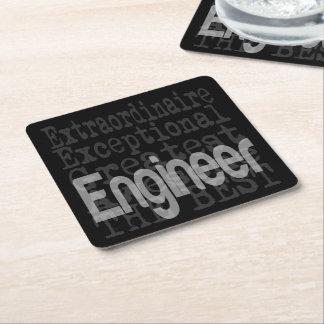 Engineer Extraordinaire Square Paper Coaster