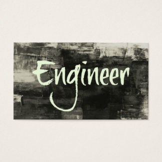 Engineer Rustic Business Card