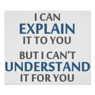 Engineer s Motto Can t Understand It For You Poster