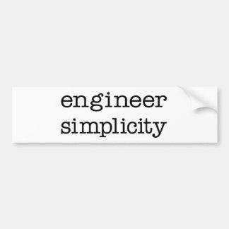 Engineer Simplicity Bumper Sticker