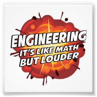 Engineering - It's Like Math But Louder Art Photo