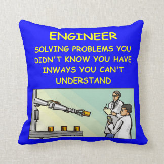 engineering joke cushion