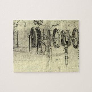 Engineering Sketch of a Wheel by Leonardo da Vinci Jigsaw Puzzle