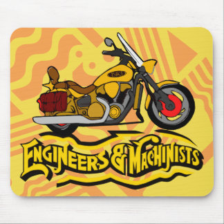 Engineers and Machinists Motorcycle Mouse Pad
