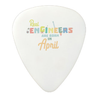 Engineers are born in April Zjz85 Polycarbonate Guitar Pick