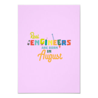Engineers are born in August Z479b Card
