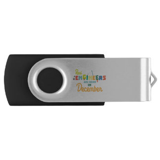 Engineers are born in December Z6r6a USB Flash Drive