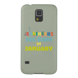 Engineers are born in January Zcu85 Cases For Galaxy S5