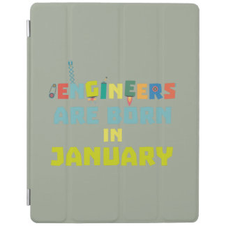 Engineers are born in January Zcu85 iPad Cover