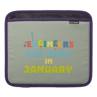 Engineers are born in January Zcu85 iPad Sleeve