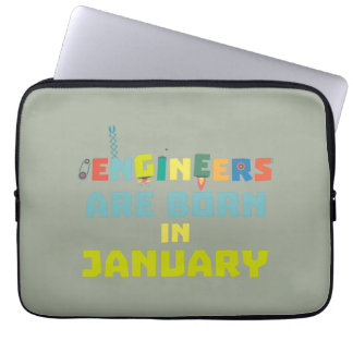 Engineers are born in January Zcu85 Laptop Sleeve
