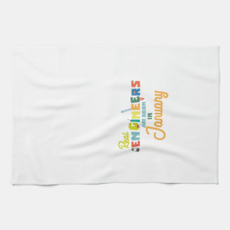 Engineers are born in January Zn619 Hand Towel
