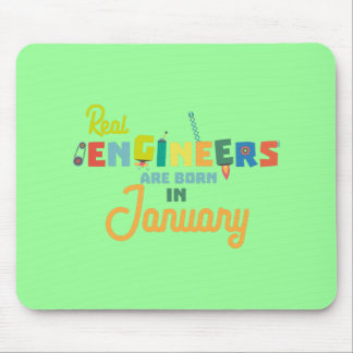 Engineers are born in January Zn619 Mouse Pad