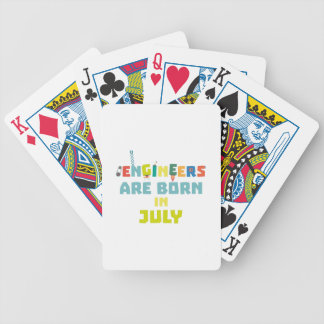 Engineers are born in July Zw3c8 Bicycle Playing Cards