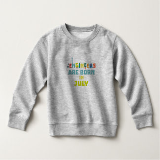Engineers are born in July Zw3c8 Sweatshirt