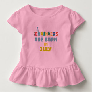 Engineers are born in July Zw3c8 Toddler T-Shirt