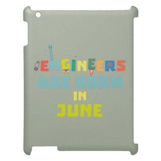 Engineers are born in June Zo3k7 iPad Case