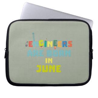 Engineers are born in June Zo3k7 Laptop Sleeve