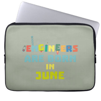 Engineers are born in June Zo3k7 Laptop Sleeve