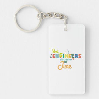 Engineers are born in June Zvl3m Key Ring