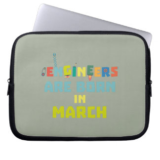 Engineers are born in March Za0s2 Laptop Sleeve