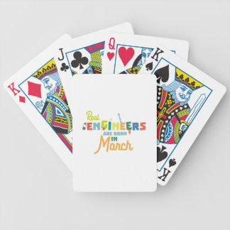 Engineers are born in March Ze8bc Bicycle Playing Cards