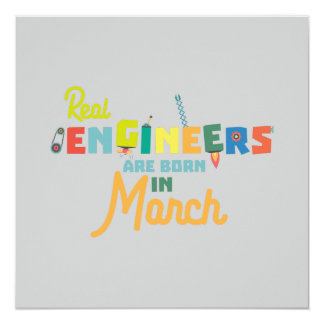 Engineers are born in March Ze8bc Card