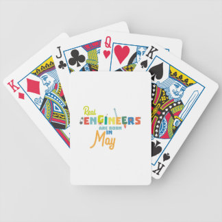 Engineers are born in May Z8wv0 Bicycle Playing Cards