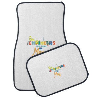 Engineers are born in May Z8wv0 Car Mat