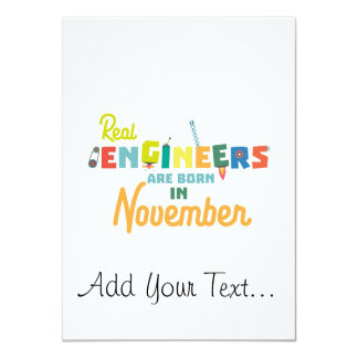 Engineers are born in November Z9g4h Card