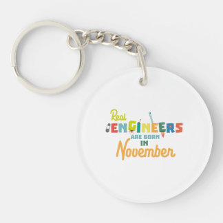 Engineers are born in November Z9g4h Key Ring