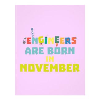 Engineers are born in November Za7ra 21.5 Cm X 28 Cm Flyer