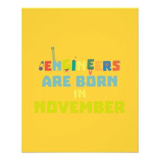 Engineers are born in November Za7ra Flyer
