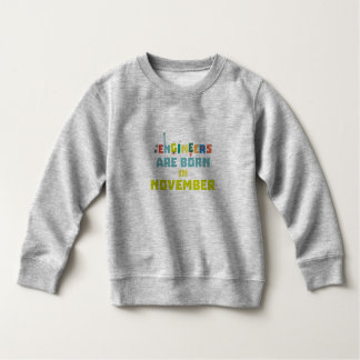Engineers are born in November Za7ra Sweatshirt