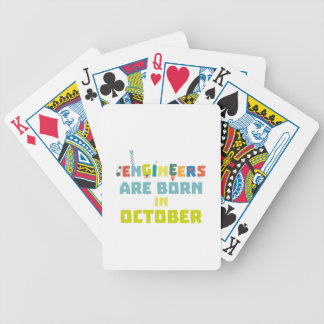 Engineers are born in October Z3zoj Bicycle Playing Cards