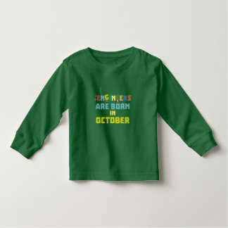 Engineers are born in October Z3zoj Toddler T-Shirt