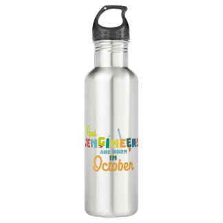 Engineers are born in October Zs52p 710 Ml Water Bottle