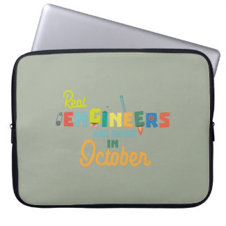 Engineers are born in October Zs52p Laptop Sleeve