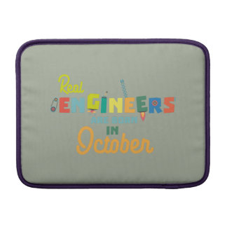 Engineers are born in October Zs52p MacBook Sleeve
