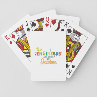 Engineers are born in October Zs52p Playing Cards