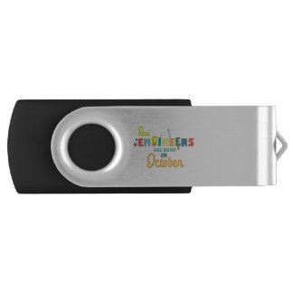 Engineers are born in October Zs52p USB Flash Drive