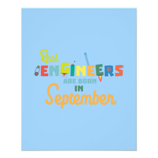Engineers are born in September Zt500 11.5 Cm X 14 Cm Flyer