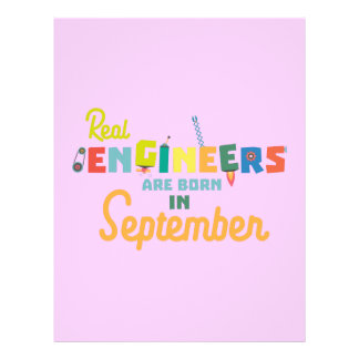 Engineers are born in September Zt500 21.5 Cm X 28 Cm Flyer