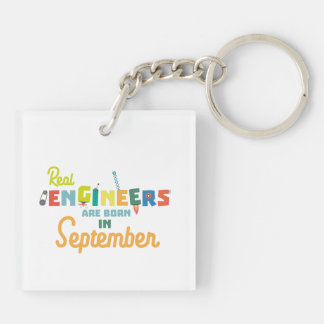 Engineers are born in September Zt500 Key Ring