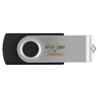 Engineers are born in September Zt500 USB Flash Drive