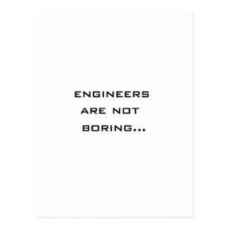 Engineers are not boring postcard