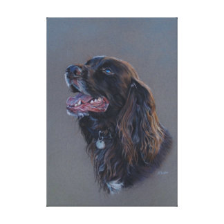 Engish Cocker Spaniel dog. Fine art painting. Canvas Print