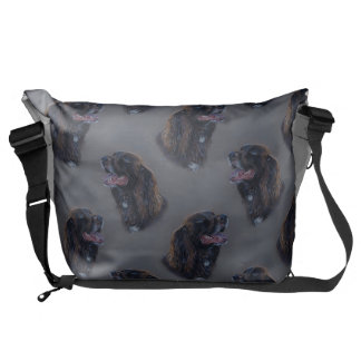 Engish Cocker Spaniel dog. Fine art painting. Courier Bag