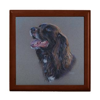 Engish Cocker Spaniel dog. Fine art painting. Gift Box